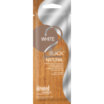 DEVOTED CREATIONS WHITE 2 BLACK NATURAL természetes bronzosító szoláriumkrém 15ml