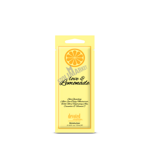 DEVOTED CREATIONS LOVE & LEMONADE szolárium testápoló 15ml
