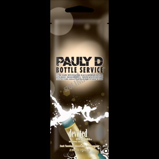 DEVOTED CREATIONS PAULY D BOTTLE SERVICE természetes bronzosító szoláriumkrém 15ml