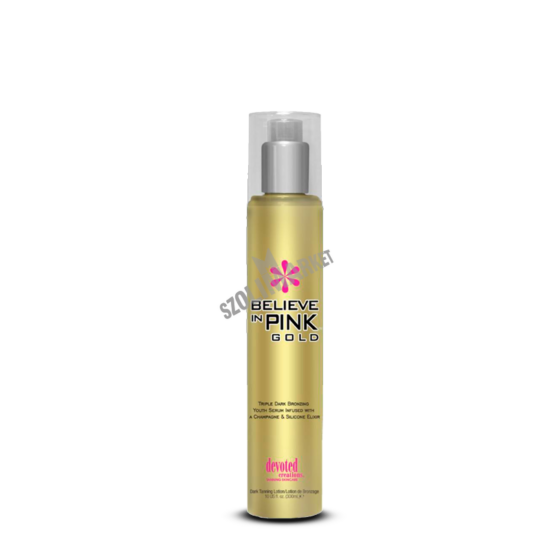 DEVOTED CREATIONS BELIEVE IN PINK GOLD bronzosító szoláriumkrém 300ml
