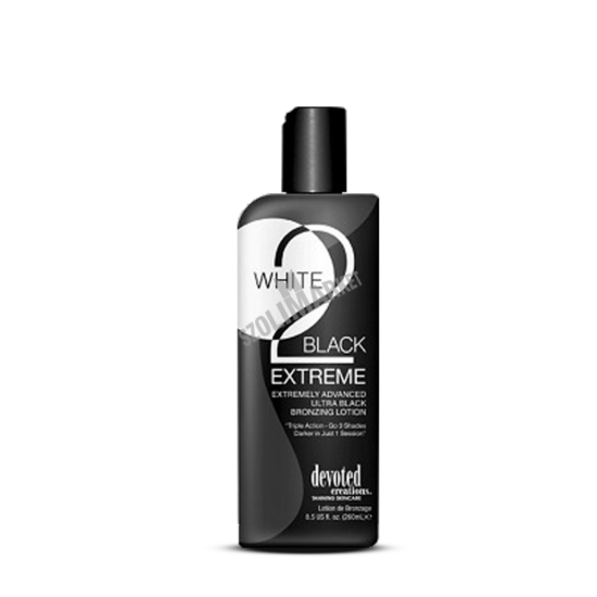 DEVOTED CREATIONS WHITE 2 BLACK EXTREME bronzosító szoláriumkrém 260ml